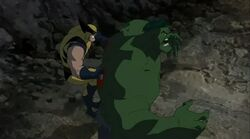 Wolverine on Hulk Back HV