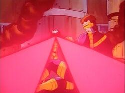 Cyclops Dodges Rogue Optic Blast