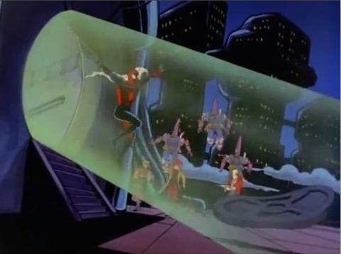 File:Spider-Man Escapes High Evolutionary Tower.jpg