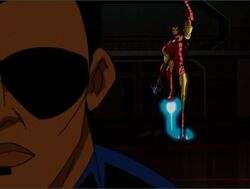 Iron Man Enters Helicarrier AEMH