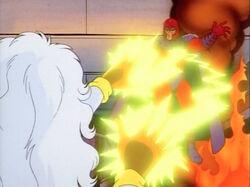 Storm Blasts Magneto