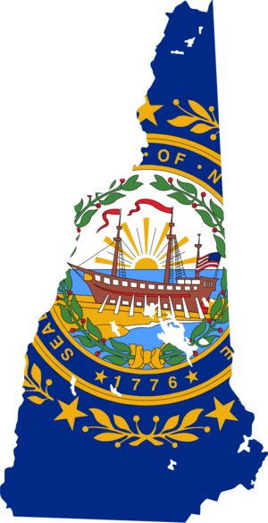 New hampshire flag map