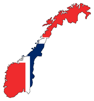 Flag-map of Norway