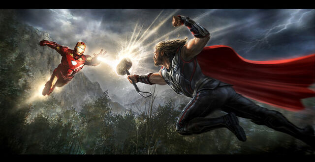 File:Andyparkart-the-avengers-Iron-Man-v-Thor.jpg