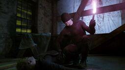Murdock lits the flare to burn Ranskahov's open wound & sealing it
