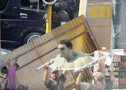AoU filming practical Hulk