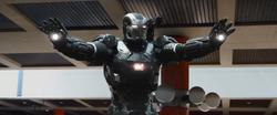 Rhodey arrives to Bucharest (War Machine Armor Mark III)