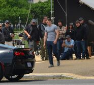 On set Captain America Winter Soldier-09