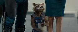 Rocket holding Groot