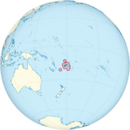 Map of Fiji
