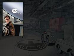 Agent in hangar