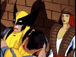 Yuriko Oyama (Earth-92131) and Wolverine (Logan) (Earth-92131) from X-Men The Animated Series Season 3 2 0002