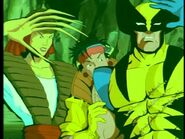 Yuriko Oyama (Earth-92131) and Wolverine (Logan) (Earth-92131) from X-Men The Animated Series Season 3 2 0001