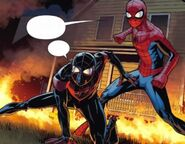 Miles Morales (Earth-1610) and Peter Parker (Earth-1610) from Miles Morales- Ultimate Spider-Man Vol 1 4 001
