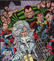 William Baker (Earth-616) with Silver Sable and the Wild Pack from Silver Sable Vol 1 2