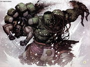 Bruce Banner (Earth-1610) James Howlett (Earth-1610) Ultimate Wolverine vs. Hulk Vol 1 1
