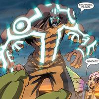 Nezhno Abidemi (Earth-616) and Megan Gwynn (Earth-616) from New X-Men Vol 2 39 0002