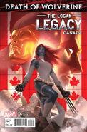 Death of Wolverine The Logan Legacy Vol 1 6 Canada Variant