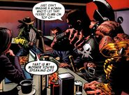 Akihiro (Earth-616), Ares (Earth-616), Norman Osborn (Earth-616) and Victoria Hand (Earth-616) from Dark Avengers Vol 1 1 001