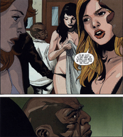 Leonard Williams (Earth-1610) Tyrone Cash de-Hulked with girls Ultimate Avengers vs. New Ultimates Vol 1 5