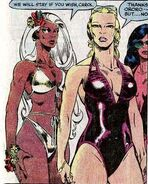 Ororo Munroe (Earth-616) and Carol Danvers (Earth-616) from Avengers Annual Vol 1 10 001