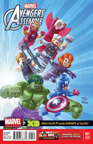 File:Marvel Universe- Avengers Assemble Vol 1 1 LEGO Variant.jpg