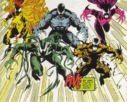Carl Mach (Earth-616), Donna Diego (Earth-616), Trevor Cole (Earth-616),Leslie Gesneria (Earth-616) and Ramon Hernandez (Earth-616) from Venom Separation Anxiety Vol 1 1 0001