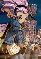 Nezhno Abidemi (Earth-616) and Megan Gwynn (Earth-616) from New X-Men Vol 2 39 0001
