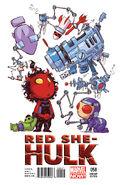 Red She-Hulk Vol 1 58 Baby Variant