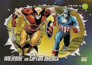 James Howlett and Steven Rogers (Earth-616) from Marvel Universe Cards Series III 0001
