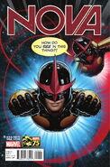 Nova Vol 5 22 Deadpool 75th Anniversary Variant