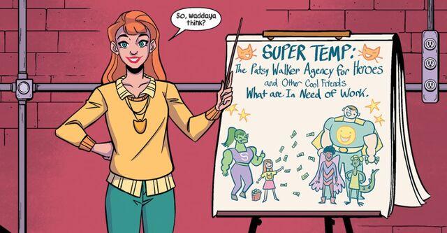 File:Patricia Walker (Earth-616) and Patsy Walker Temp Agency (Earth-616) from Patsy Walker, A.K.A. Hellcat! Vol 1 1.jpg
