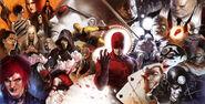 Daredevil Vol 1 500 Gatefold Textless Cover