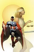All-New Captain America Vol 1 1 Comic Book Legal Defense Fund Variant Textless