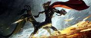 Thor Concept Art - Thor vs Loki