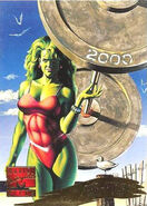 Jennifer Walters (Earth-616) from Marvel Masterpieces Trading Cards 1995 Set 0001