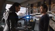 Anthony Stark (Earth-199999) and Loki Laufeyson (Earth-199999) from Marvel's The Avengers 001