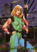 Kimberly Potters (Earth-928) from Marvel Masterpieces Trading Cards 1993 Set 0001