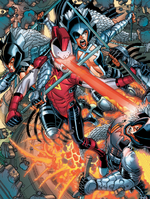 Warbirds (Earth-616) from Wolverine and the X-Men Annual Vol 1 1 0004