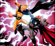 Robert Reynolds (Earth-616) and Thor (Thor Odinson) from Thor Vol 1 608 0001