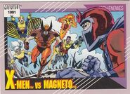 X-Men vs. Max Eisenhardt (Earth-616) from Marvel Universe Cards Series II 0001
