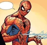 Peter Parker (Tony Richards) (Earth-616) from Amazing Spider-Man & Silk- The Spider(fly) Effect Infinite Comic Vol 1 2 001