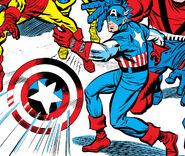 Steve Rogers (Earth-616) Captain America's Magnetic Shield from Avengers Vol 1 6