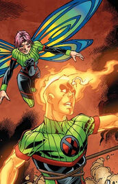 Megan Gwynn (Earth-616) and Ben Hammil (Earth-616) from New X-Men Vol 2 23 0001