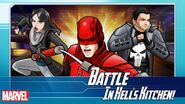 Jessica Jones (Earth-TRN562), Matthew Murdock (Earth-TRN562), and Frank Castle (Earth-TRN562) from Marvel Avengers Academy 001