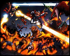 Avengers (Earth-97161) and Pet Avengers (Earth-97161) from Avengers vs. Pet Avengers Vol 1 3 0001