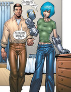 Noriko Ashida (Earth-616) and David Alleyne (Earth-616) from New X-Men Vol 2 1 0001