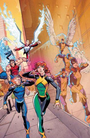 File:X-Men Blue Vol 1 3 Mora Variant Textless.jpg