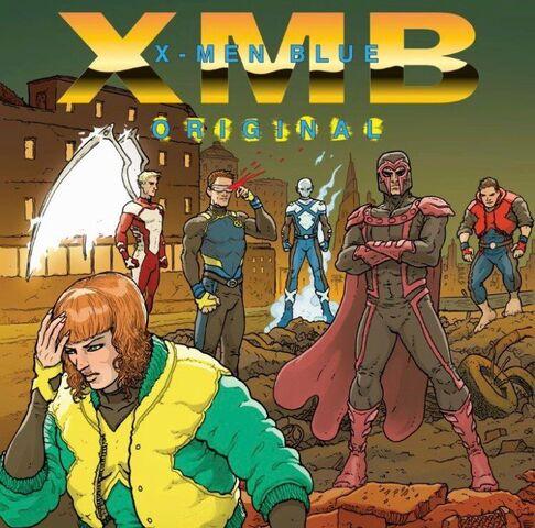 File:X-Men Blue Vol 1 1 Hip-Hop Variant Textless.jpg