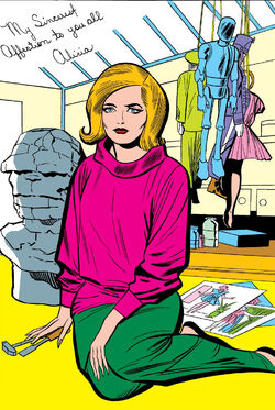 Alicia Masters (Earth-616) Gallery Page from Fantastic Four Annual Vol 1 2